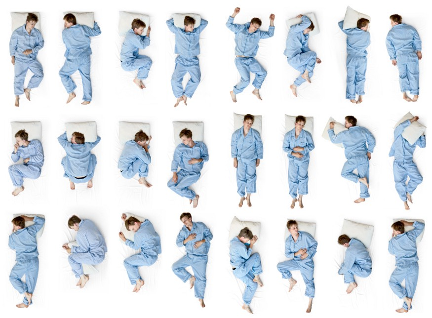 Back pain while sleeping in different positions